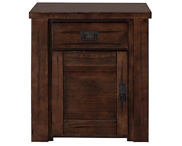 Kai Mid Tone Door Storage End Table
