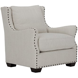 Connor Light Taupe Fabric Chair