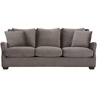 Connor Dark Gray Microfiber Sofa