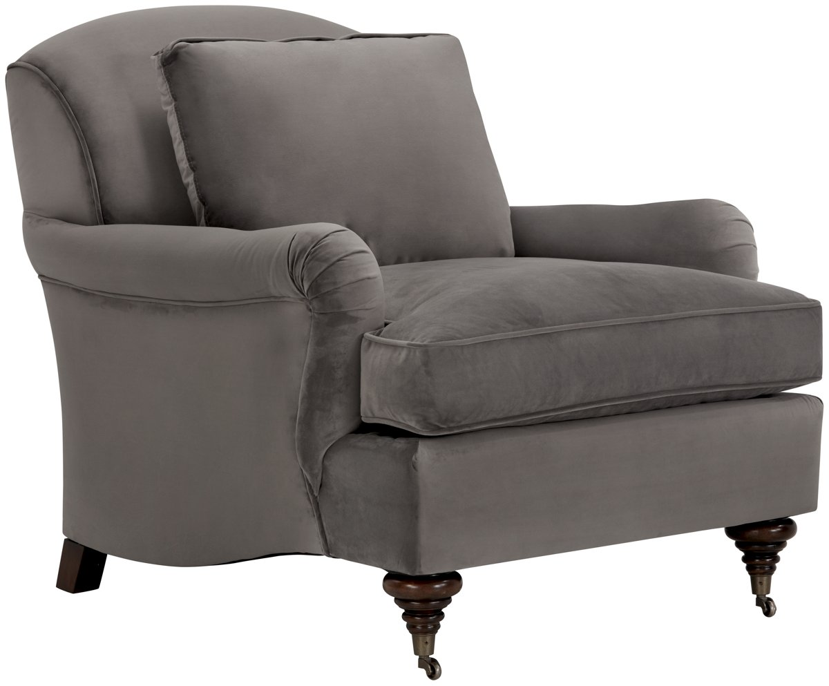 Churchill Dark Gray Microfiber Chair
