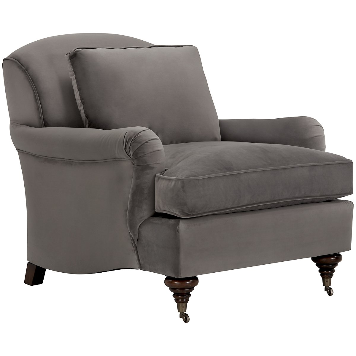 Churchill Dark Gray Microfiber Micro Chair