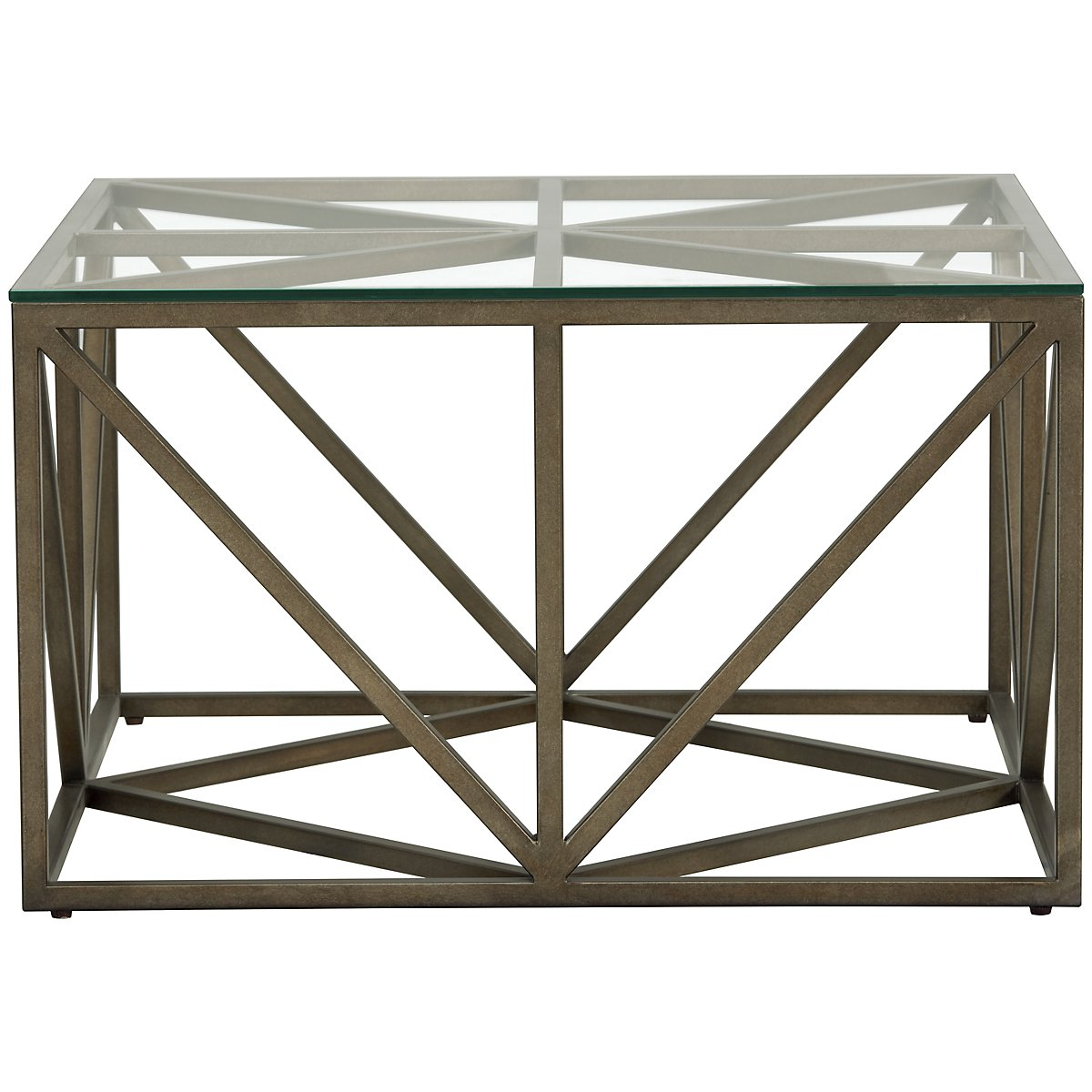 Authenticity Metal Square Coffee Table