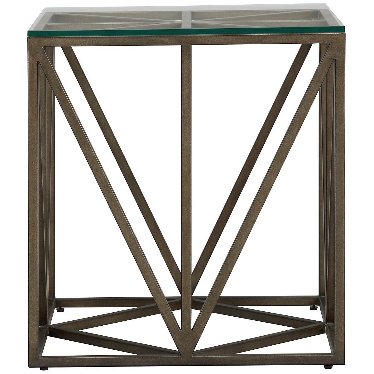 Authenticity Metal Square End Table