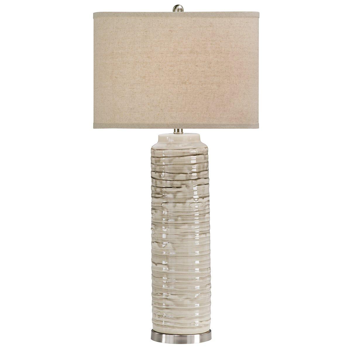 Anastasia Light Beige Ceramic Table Lamp