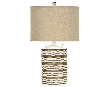Mcallen Light Beige Table Lamp