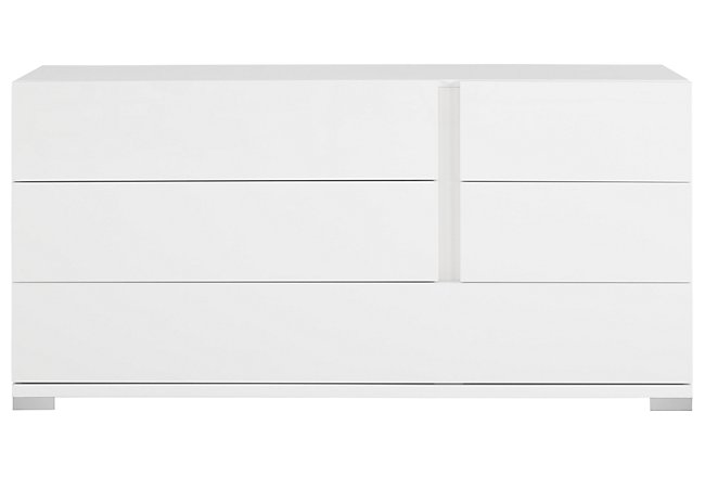 Santino White Wood Dresser