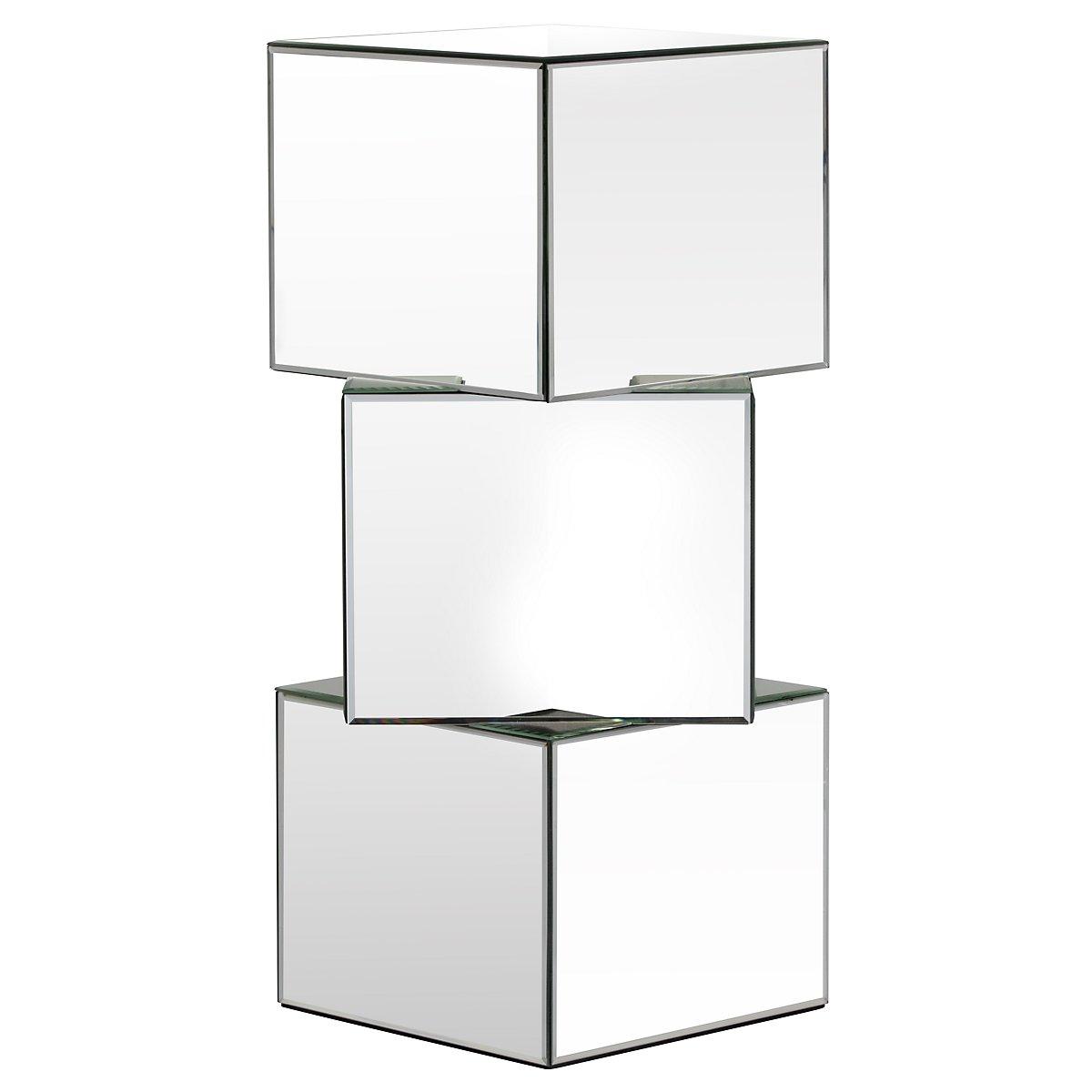 Ryan Mirrored Pedestal Table