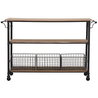 Byron Metal Wood Cart