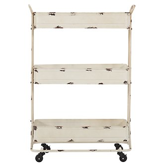 Luca Light Tone Metal Cart
