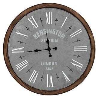 Oscar Light Green Wood Wall Clock