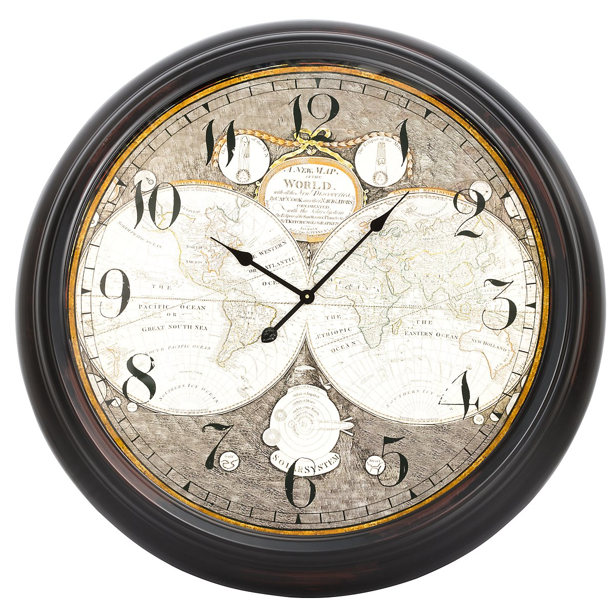 World Metal Wall Clock