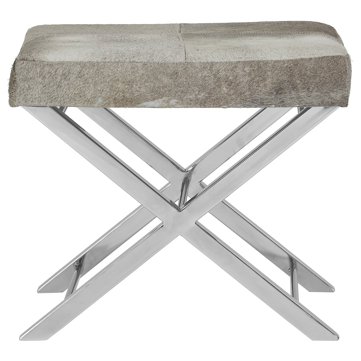 Asher Gray Leather Accent Stool
