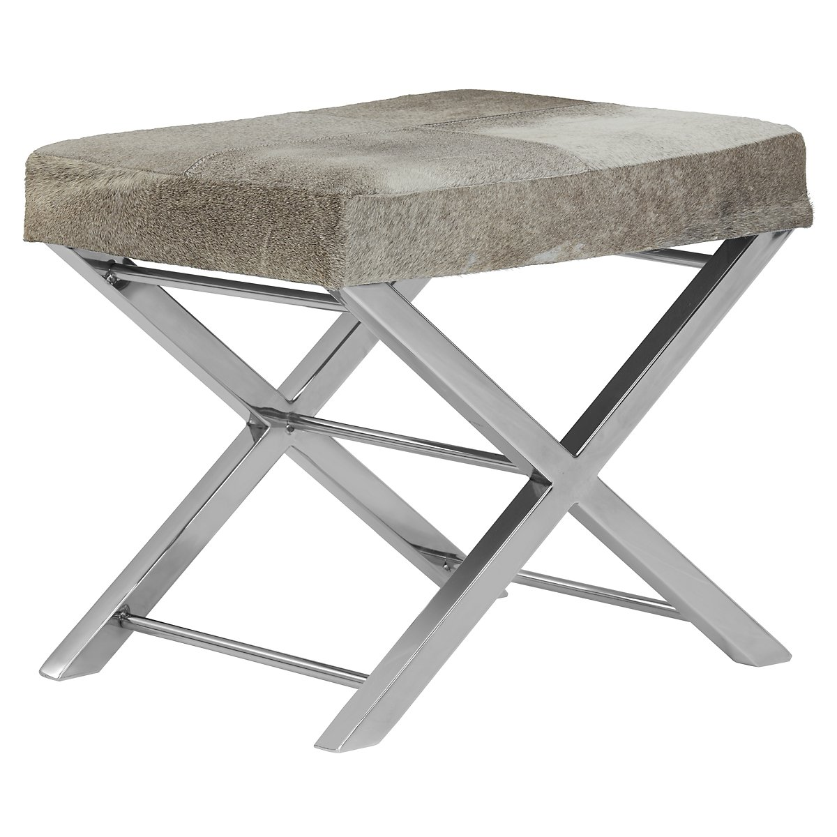 city furniture asher gray leather accent stool - asher gray leather accent stool view larger