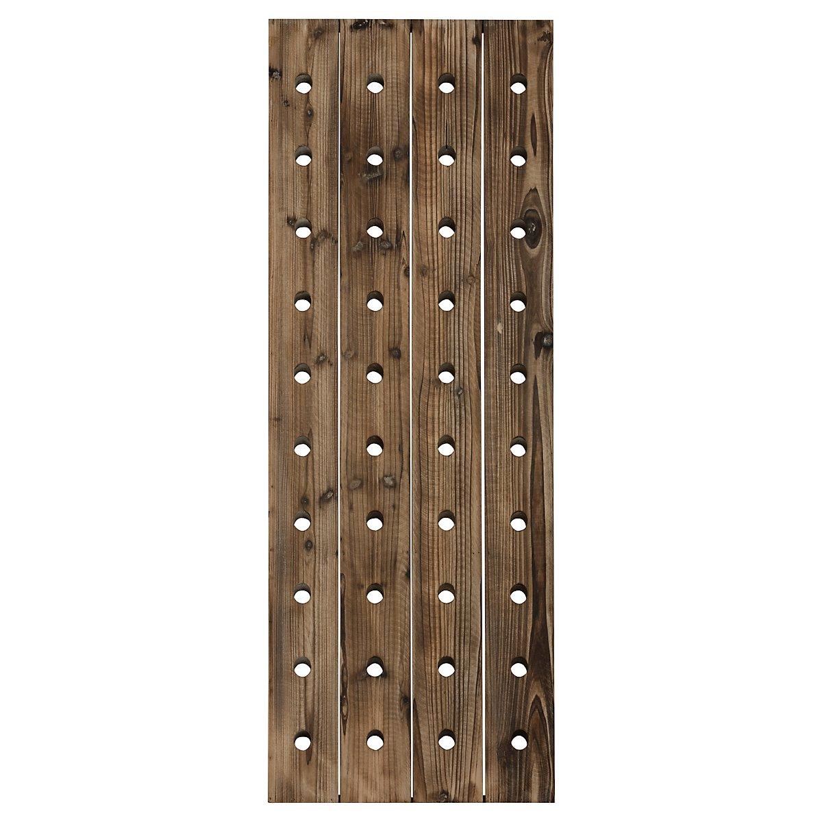 Miri Wood Rectangular Hanging Wine Rack