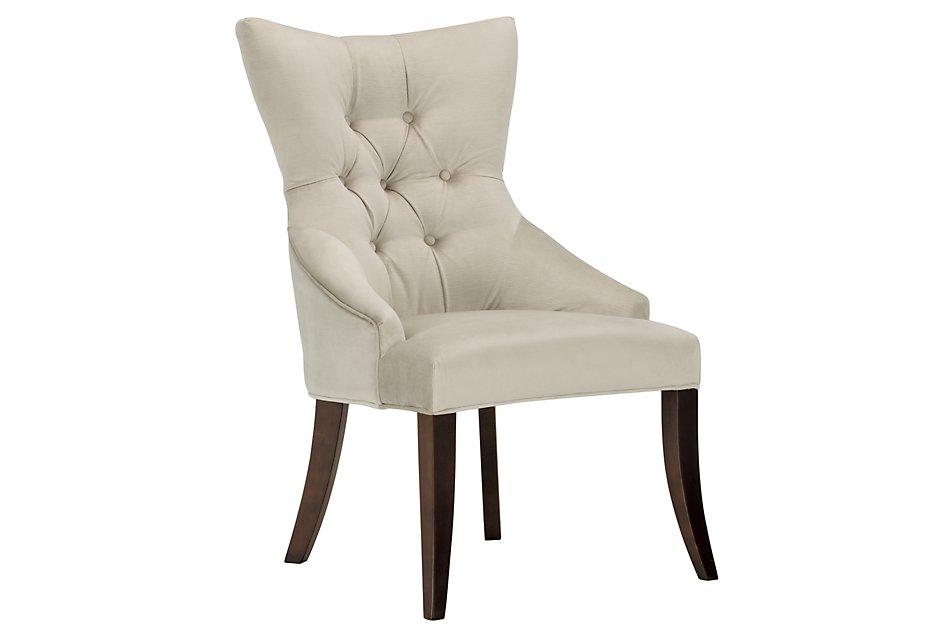 Sloane Light Beige Upholstered Arm Chair | Dining Room ...