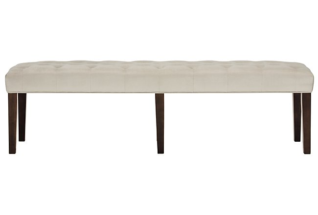Sloane Light Beige Fabric Dining Bench