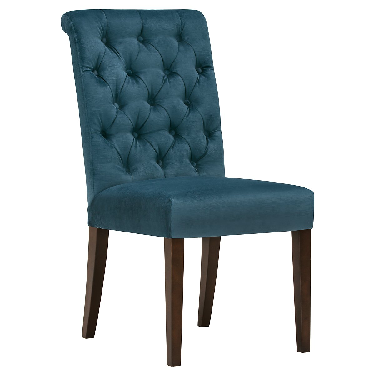 Sloane Dark Blue Fabric Upholstered Side Chair