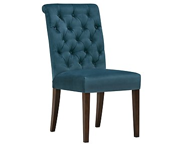Sloane Dark Blue Upholstered Side Chair