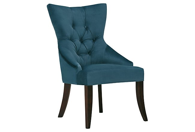 Sloane Dark Blue Fabric Upholstered Arm Chair