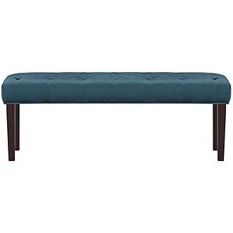 Sloane Dark Blue Upholstered Bench