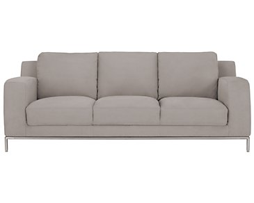 Wynn Light Gray Microfiber Sofa