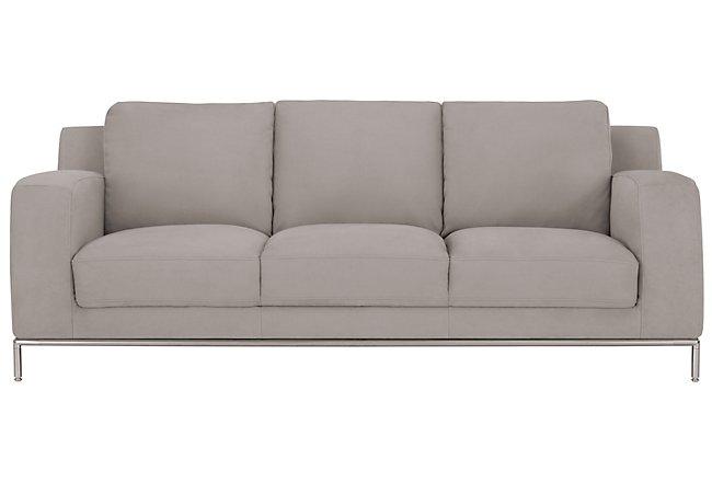 Wynn Light Gray Microfiber Sofa