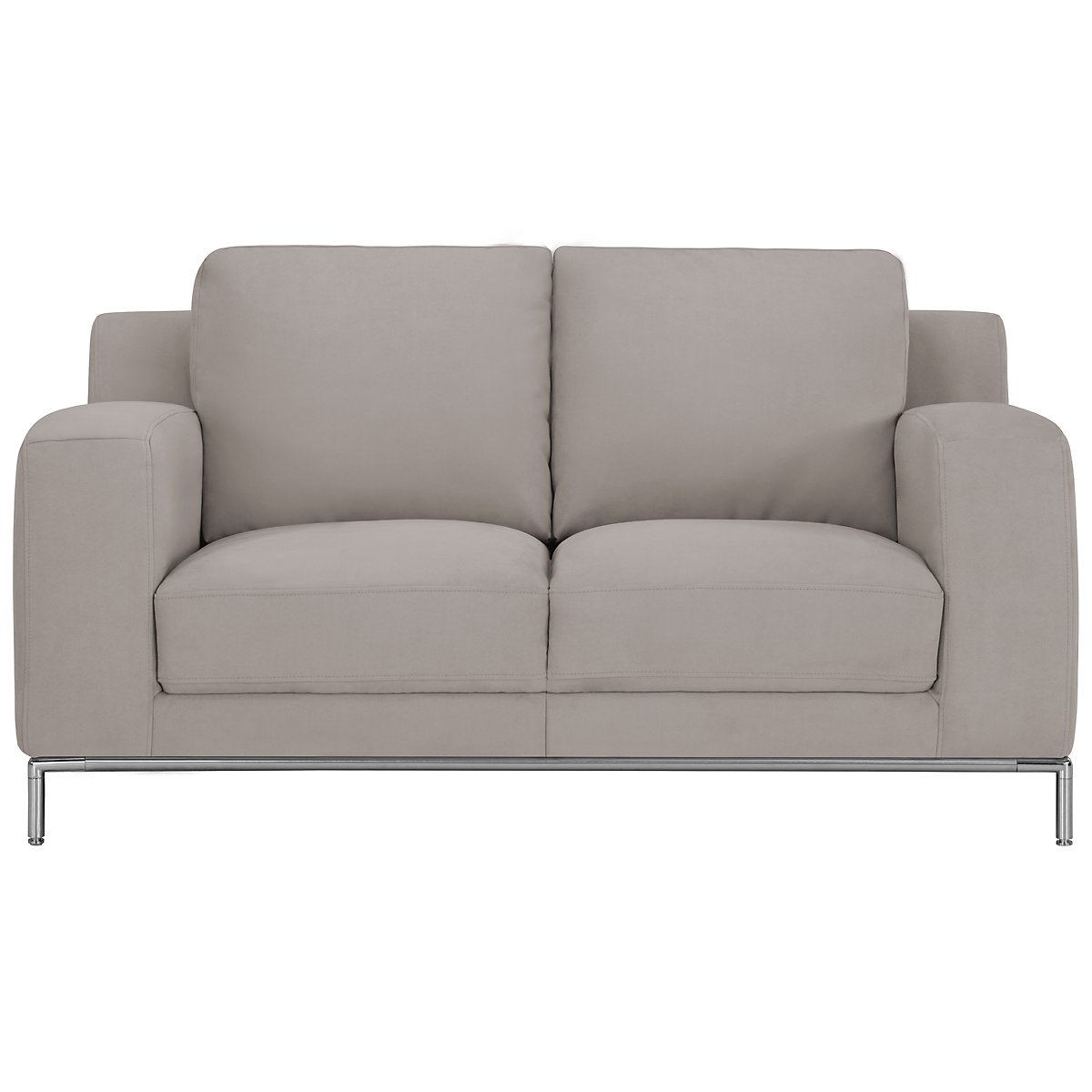 Wynn Light Gray Microfiber Loveseat