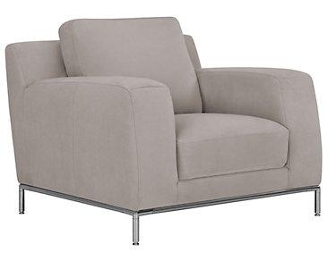 Wynn Light Gray Microfiber Chair