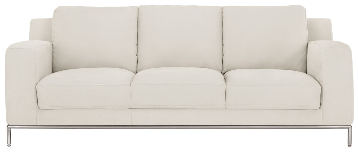 City Furniture Wynn White Microfiber Sofa