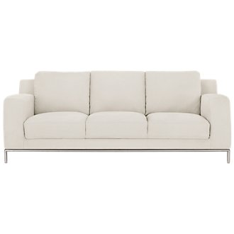 Wynn White Microfiber Sofa