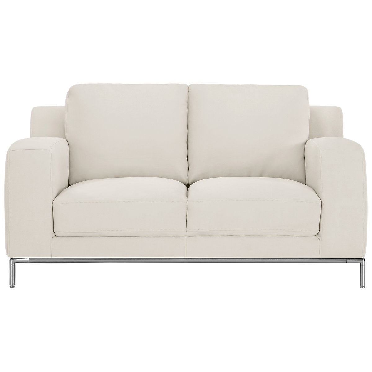 city furniture  living room furniture  loveseats - wynn white microfiber loveseat
