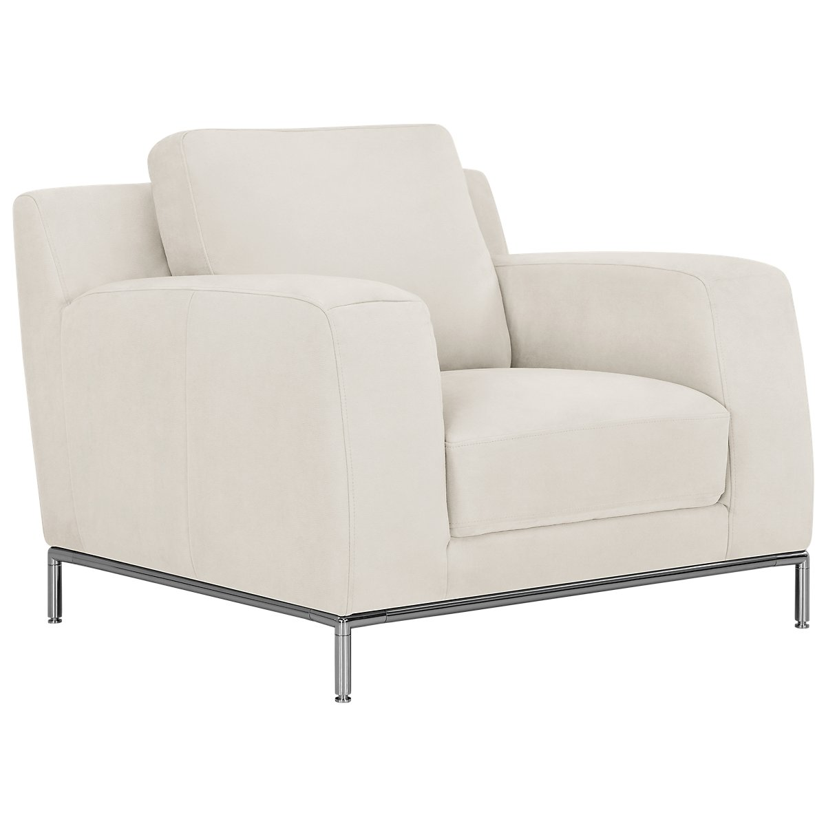 Wynn White Microfiber Micro Chair