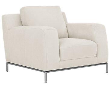 Wynn White Microfiber Chair