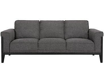 Harlan Dark Gray Fabric Sofa