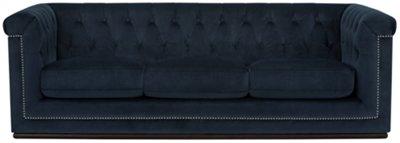 Blair Dark Blue Microfiber Sofa