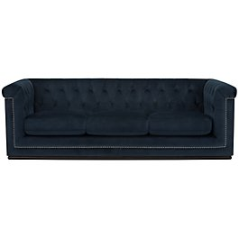 Blair Dark Blue Microfiber Sofa