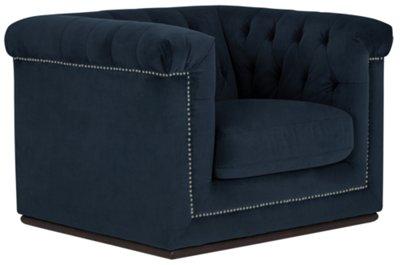 Blair Dark Blue Microfiber Chair