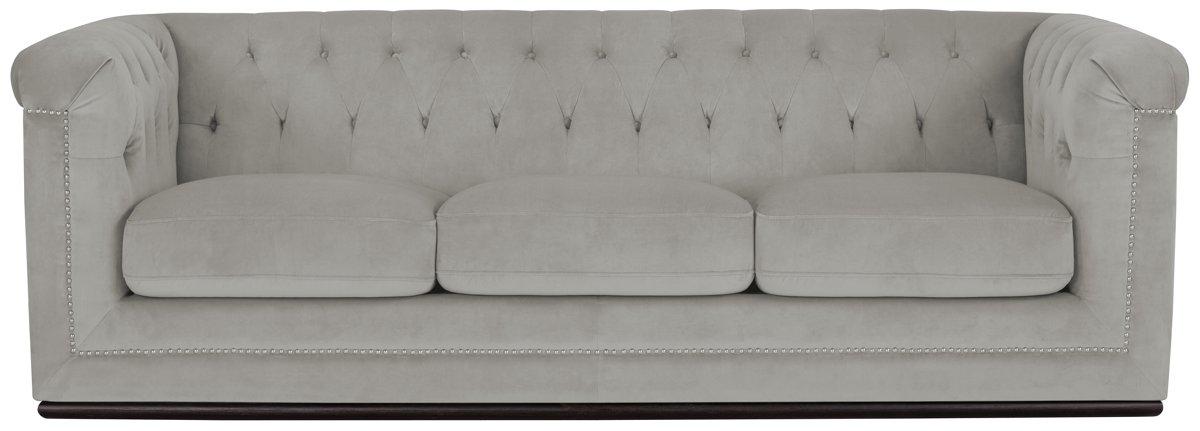 Blair Gray Microfiber Sofa