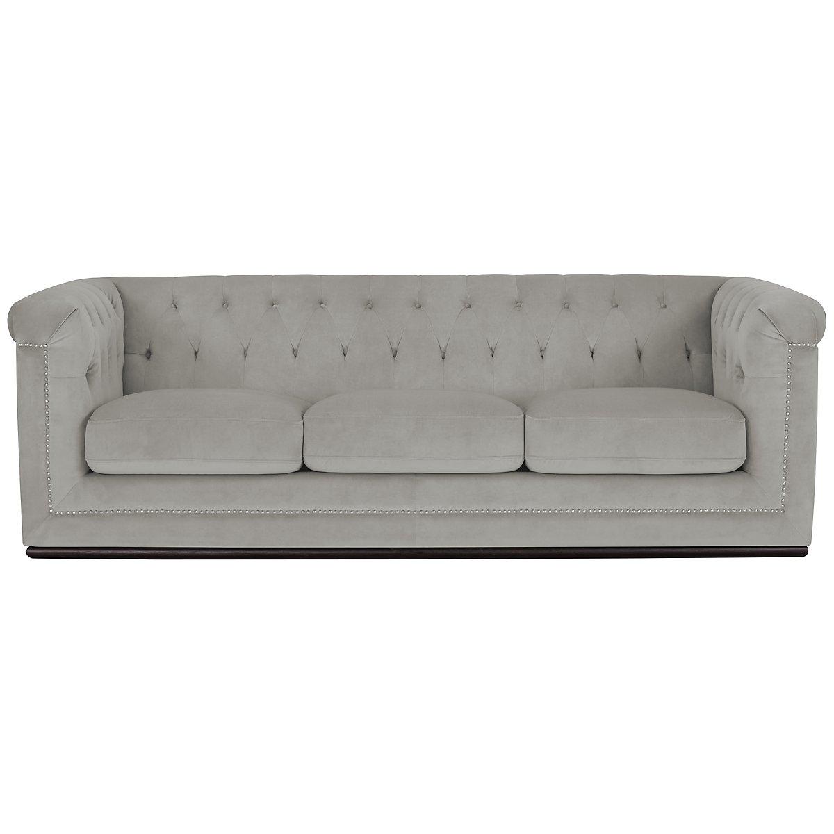 Blair Gray Microfiber Micro Sofa