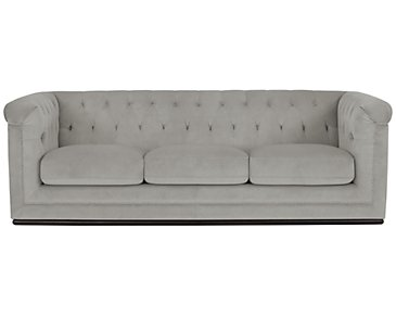 Blair Gray Microfiber Sofa