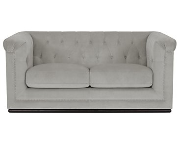 Blair Gray Microfiber Loveseat