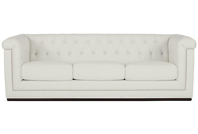 Blair Gray Microfiber Sofa | Living Room - Sofas | City ...