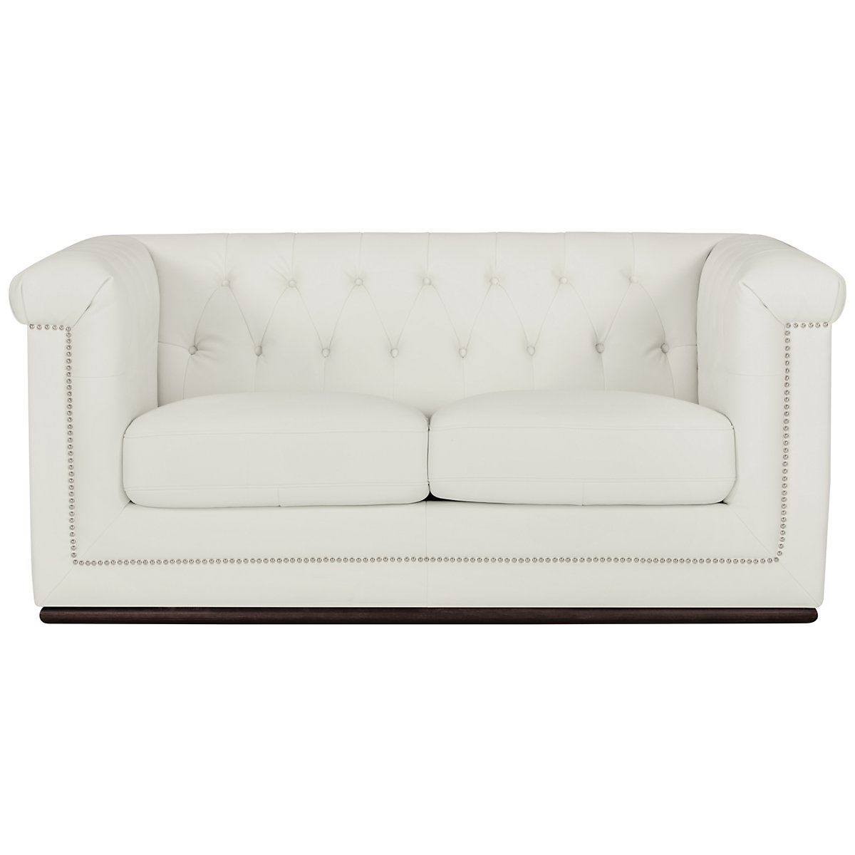 Blair White Microfiber Loveseat