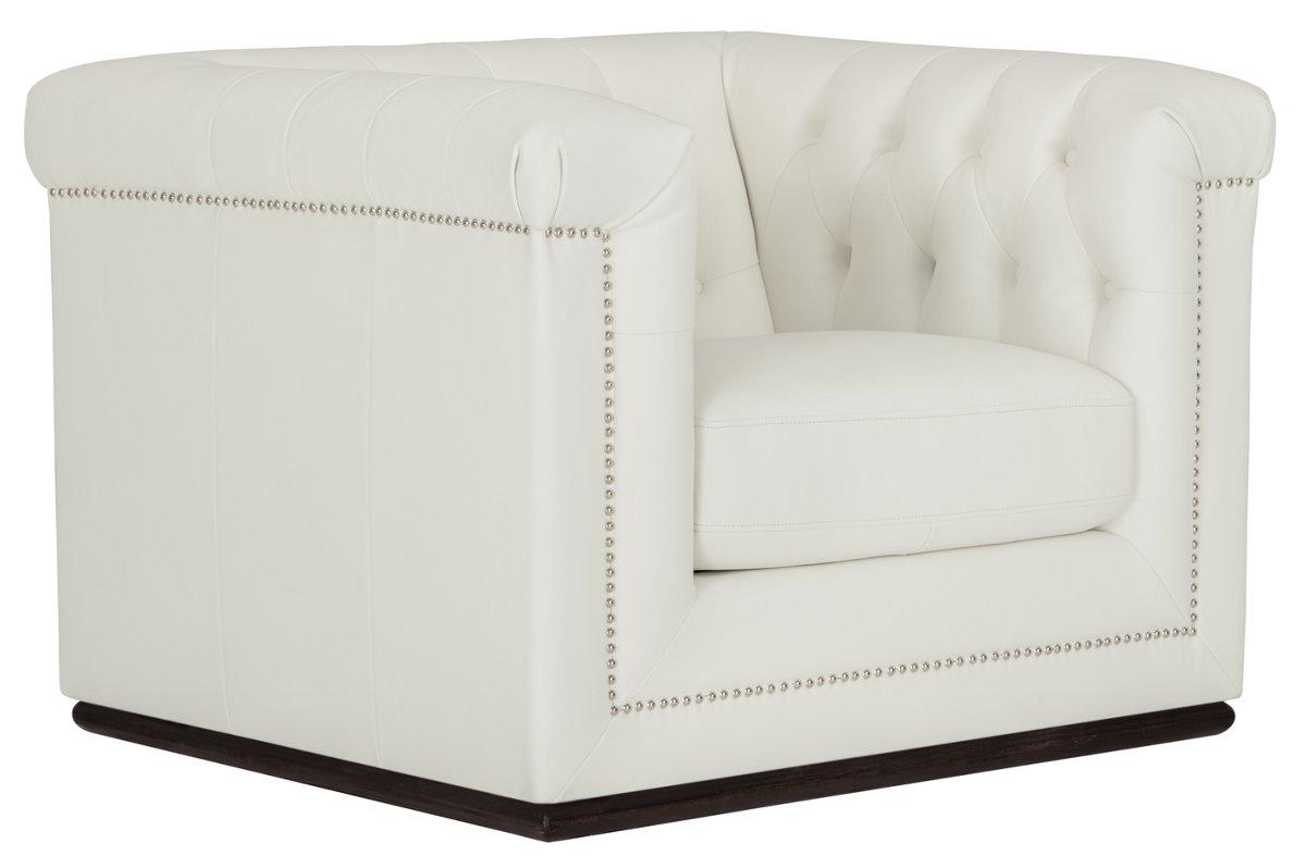 Blair White Microfiber Chair