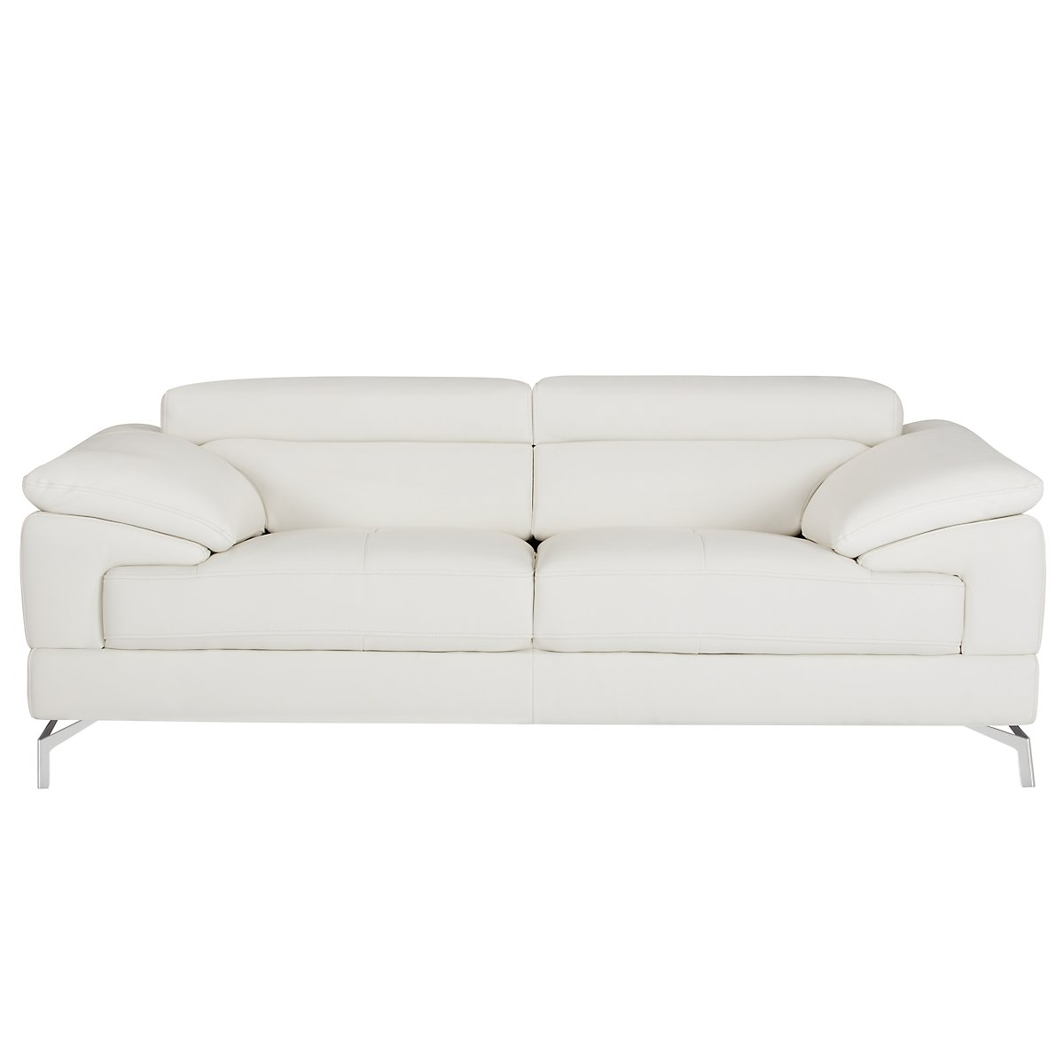 city furniture  living room furniture  loveseats - dash white microfiber loveseat