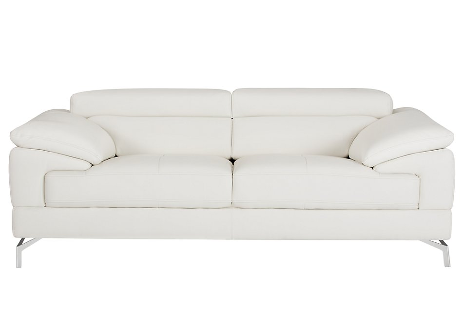 Dash White Micro Loveseat