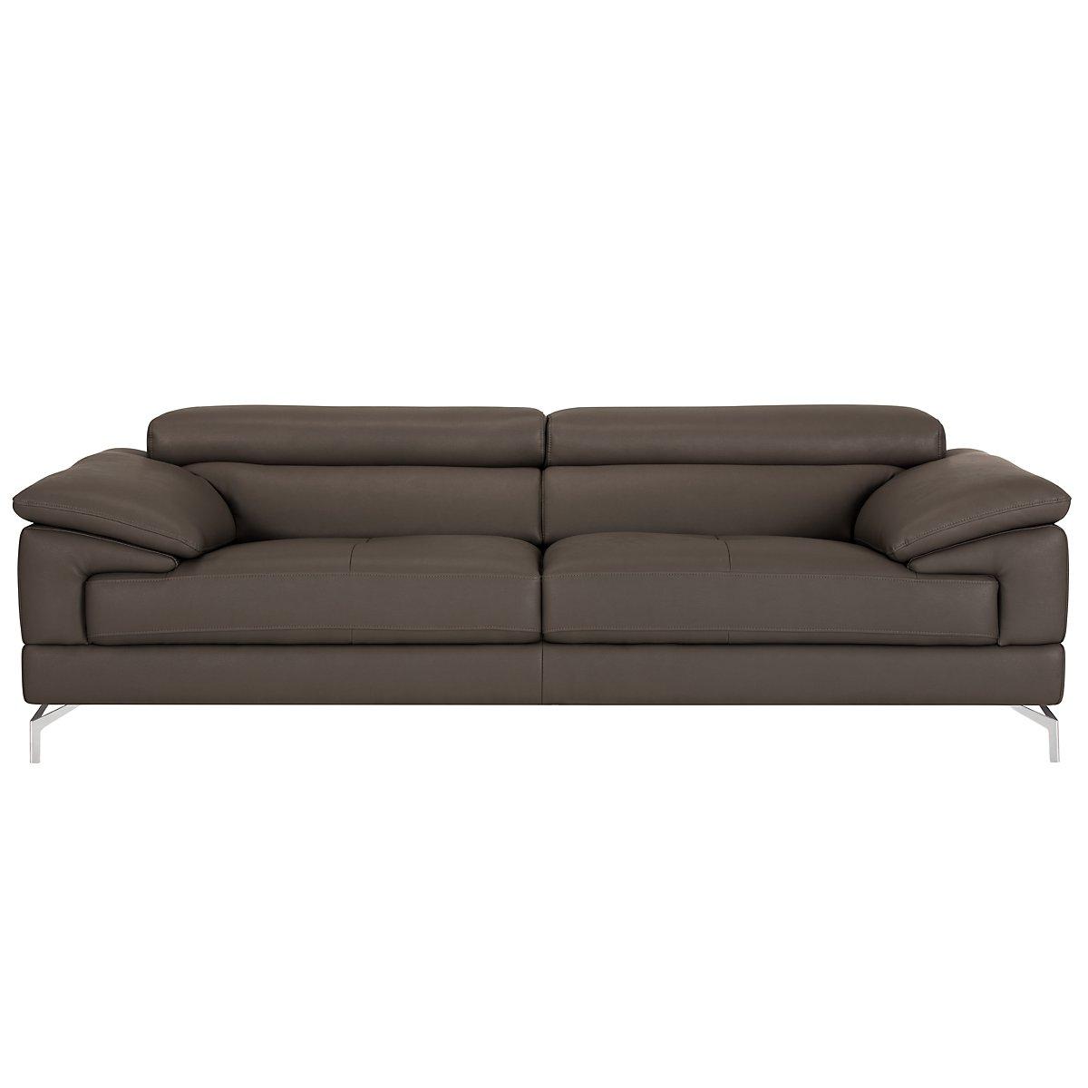 Dash Dark Gray Microfiber Micro Sofa