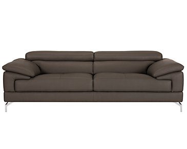 Dash Dark Gray Microfiber Sofa