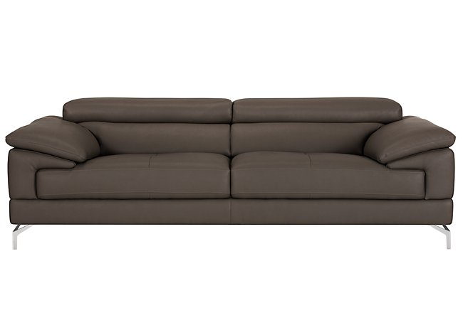 Dash Dark Gray Microfiber Sofa | Living Room - Sofas | City Furniture