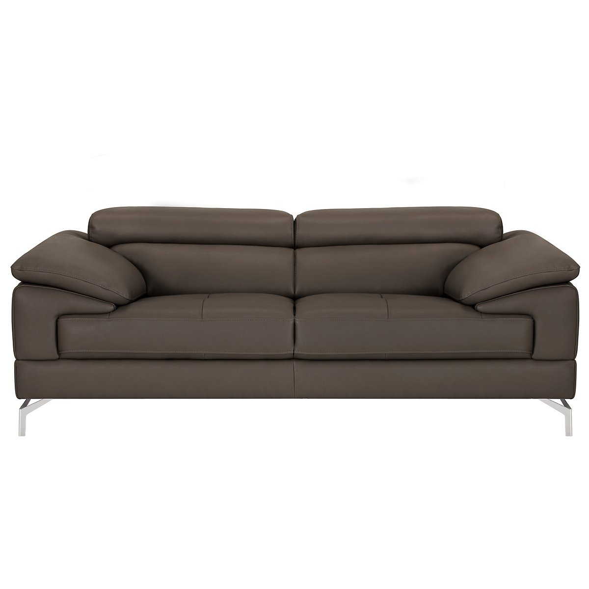 Dash Dark Gray Microfiber Micro Loveseat